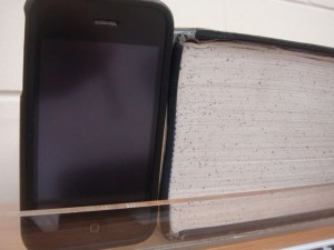 iPhone And Very Thick Book